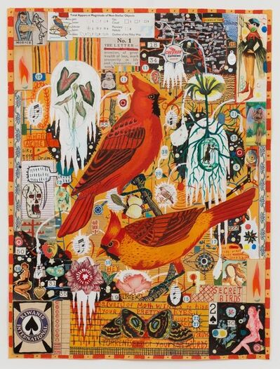 Tony Fitzpatrick, 'Secret Birds'
