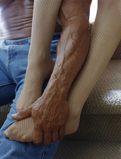 Torbjørn Rødland, 'Stockings, Jeans Carpeted Stairs '