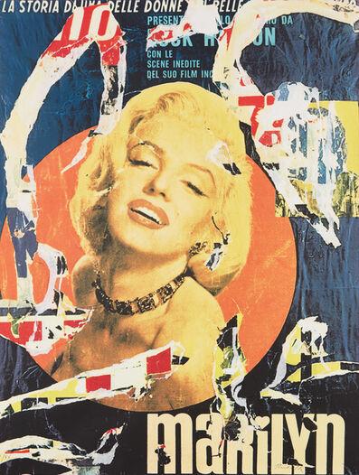 Mimmo Rotella, 'Marilyn - La Storia di una delle donne piu belle', 1991