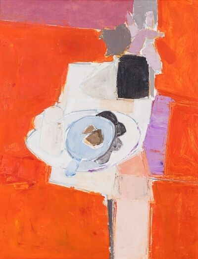 Donald Hamilton Fraser, 'Red Still Life with Mat & Dish', 1961