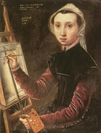 Catharina van Hemessen, 'Self-portrait', 1548