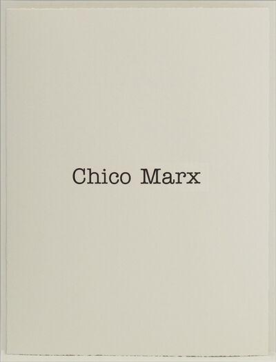 Simon Patterson, 'Chico Marx', 2018