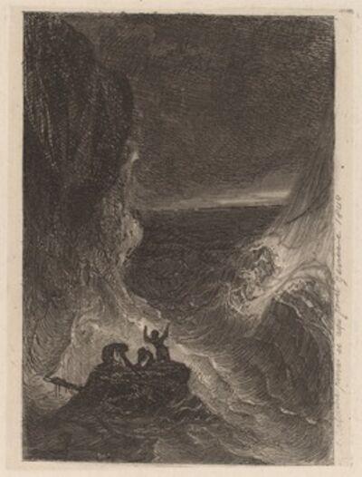 Alexandre Calame, 'Shipwreck', 1840