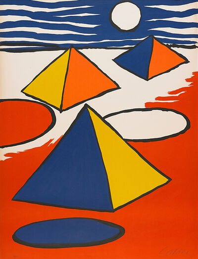 Alexander Calder, 'Pyramids at Night', 1970