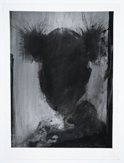 Richard Hambleton, 'Shadow Head Black on Silver (Basquiat)', 2003