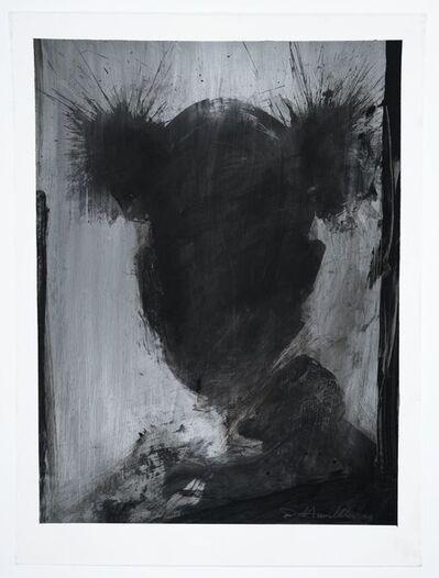 Richard Hambleton, 'Shadow Head Black on Silver (Basquiat)', 2003