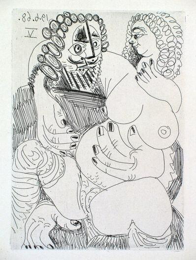 Pablo Picasso, 'Grosse Prostituée sur les Genoux d'un Barbu', 1968