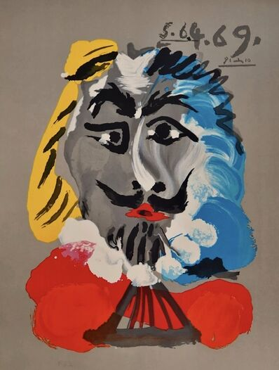 "Pablo Picasso, 'Series of ""Imaginary portraits"": Mousquetaire (Musketeer)', 1969"