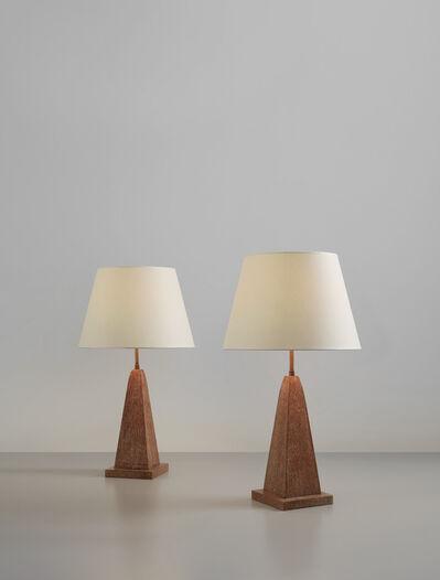 Jean-Michel Frank, 'Pair of table lamps', circa 1936