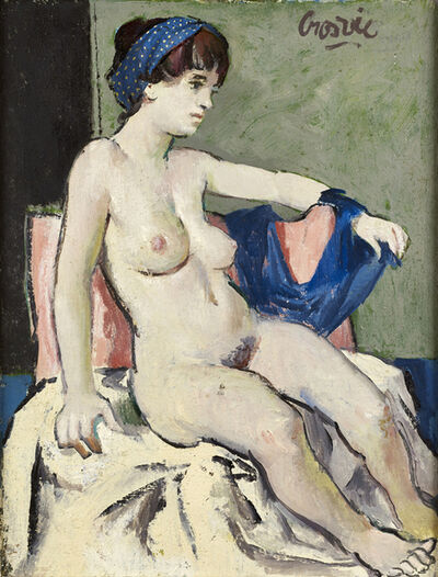 William Crosbie, 'Nude with a Blue Bandana', Twentieth Century