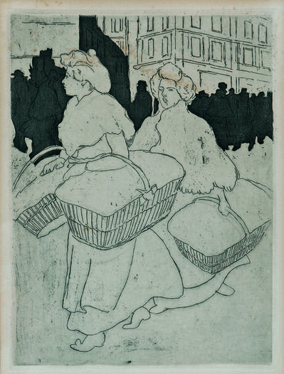 Théophile Alexandre Steinlen, 'Blanchisseuses reportant l'ouvrage', 1898