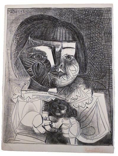 Pablo Picasso, 'Paloma et sa Poupée sur Fond Noir', 1952