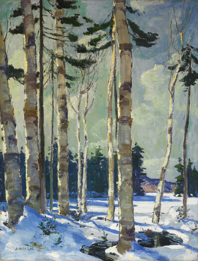 Jonas Lie, 'Winter Birches'