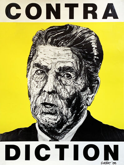 Robbie Conal, ''Contra-diction' (Ronald Reagan)', 1988