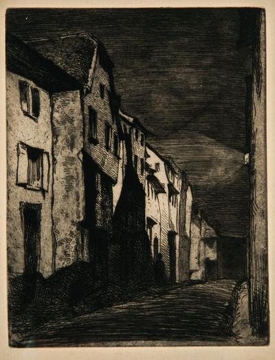 James Abbott McNeill Whistler, 'Street at Saverne', 1858