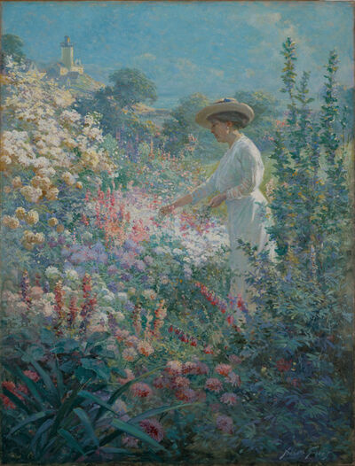 Abbott Fuller Graves, 'Garden at Finisterre, Eastern Point, Gloucester, MA', 1913