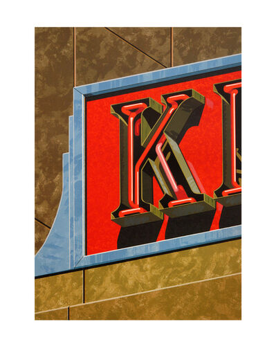 Robert Cottingham, 'An American Alphabet: K', 1997