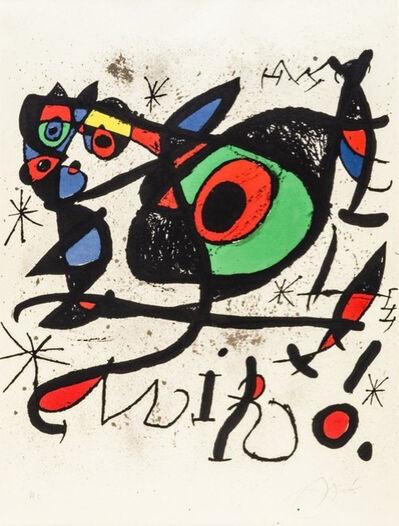 """Joan Miró, 'Afiche pour l'exposition """"Sobreteixims i escultures""""', 1972"""