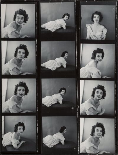 Milton H. Greene, 'A Group of Eight Contact Sheets of Dorian Leigh (8 works)', 1953