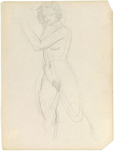 Charles White, 'STANDING NUDE WITH ARMS RAISED TO THE LEFT'