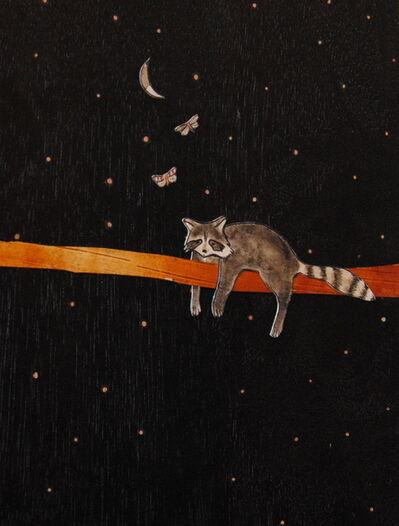 Ashley Anne Clark, 'Raccoon with Butterflies', 2018
