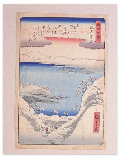 Utagawa Hiroshige (Andō Hiroshige), 'Twilight Snow at Hira', Late 19th Century.