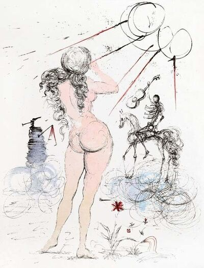Salvador Dalí, 'Apollinaire Suite: Woman, Horse, Death', 1967