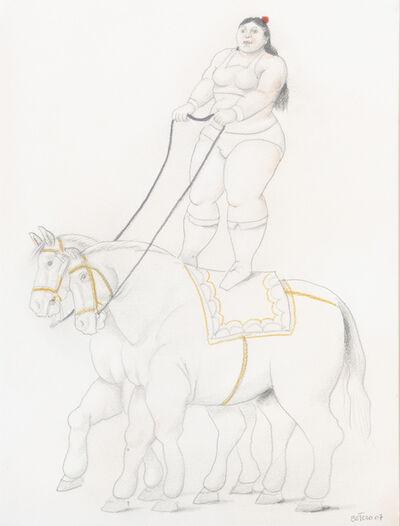 Fernando Botero, 'Woman on two horses', 2007