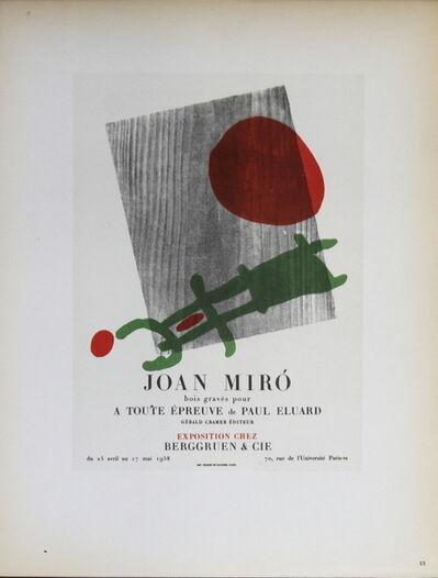 Joan Miró, 'Berggruen & Cie', 1959