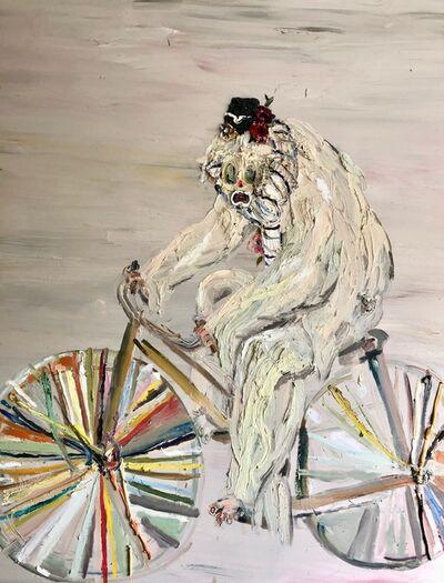 Allison Schulnik, 'Hobo Clown on Bike', 2008