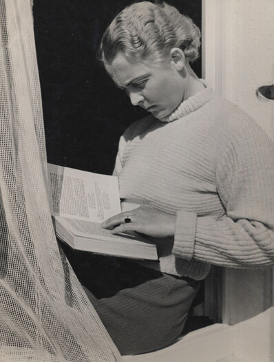 Elisabeth Hase, 'Untitled (Women reading by window with curtain)'