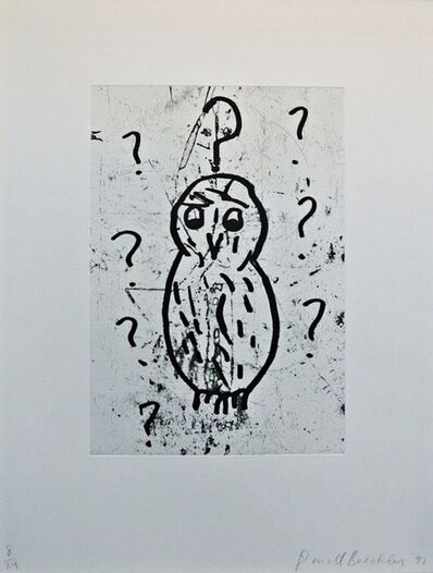Donald Baechler, 'Owls (Plate VII)', 1992