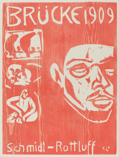 Ernst Ludwig Kirchner, 'Cover of the Fourth Yearbook of the Artist Group the Brucke', 1909