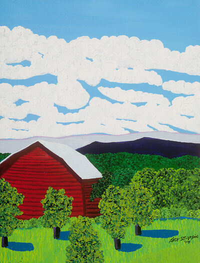 Jack Stuppin, 'Red Barn Near Livingston', 2014