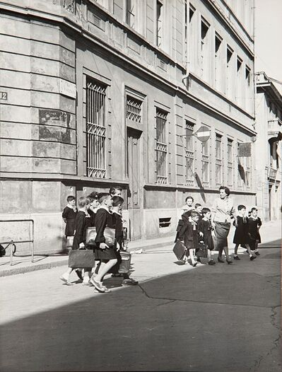Mario De Biasi, 'Untitled (Scholars in Via S. Vincenzo, Milan)', years 1960