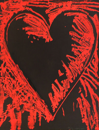 Jim Dine, 'The Black and Red Heart', 2013