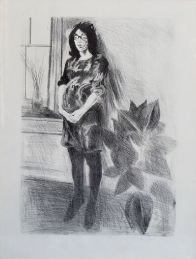 Raphael Soyer, '(Memories, Portfolio) Woman with Plant', 1969