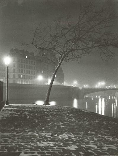 Maurice Georges Chanu, 'Tree Study in Snow along Seine, Paris', 1947c/1947c