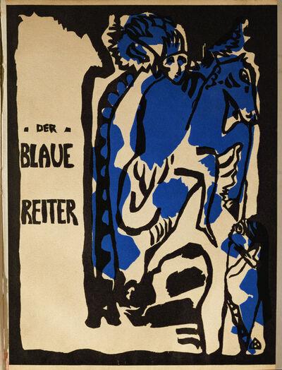 "Wassily Kandinsky, 'Cover of the magazine ""Der Blaue Reiter,"" Berlin', 1912"