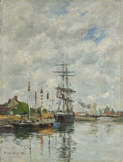Eugène Boudin, 'Deauville, the Boat Basin', 1887
