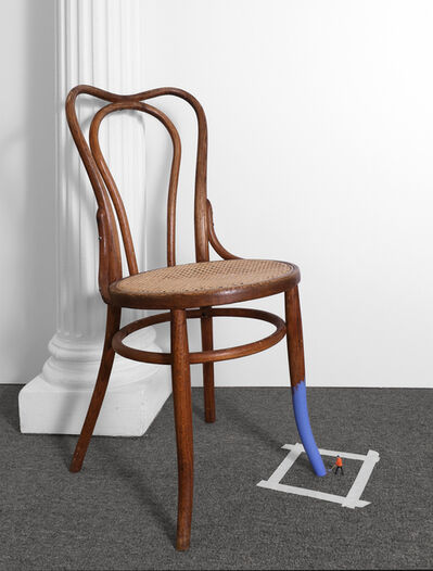 Liliana Porter, 'Untitled (man painting chair II)', 2016
