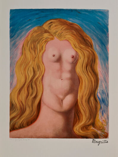 "René Magritte, 'Le Viol ""The Rape""', ca. 1979"