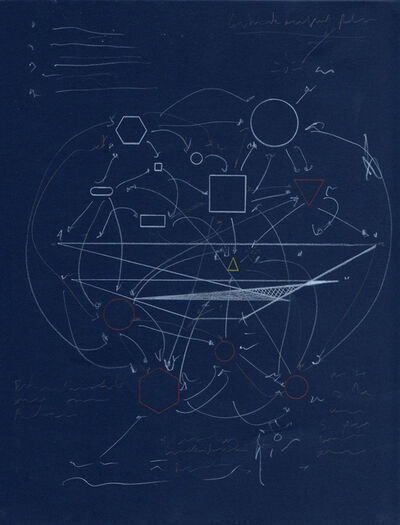 Hiram Constantino, 'Schematics for the future (blue)', 2018