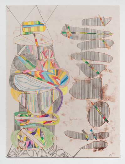 Steve Roden, 'words and borders (21)', 2013