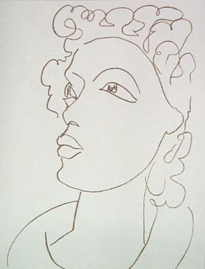Henri Matisse, 'Jeune Fille aux Cheveux Bouchles a Gauche', 1954
