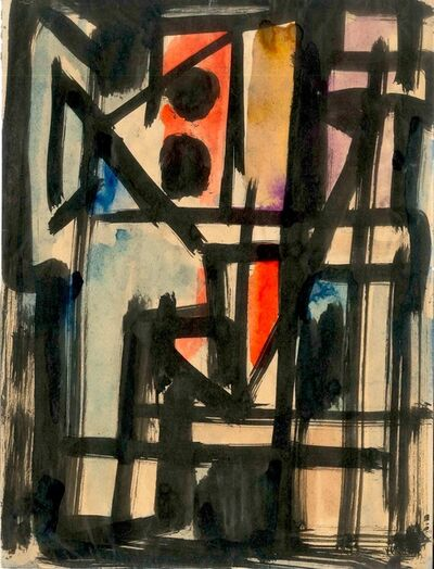 Emilio Vedova, 'Abstract composition', 1950