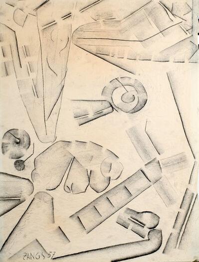 Herbert Zangs, 'Series: Charcoal drawings', 1957