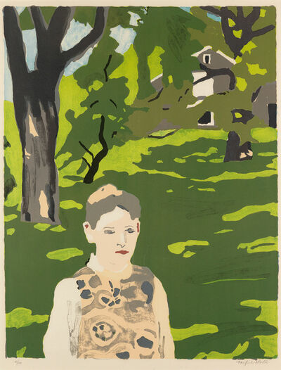 Fairfield Porter, 'PORTER Girl in the Woods', 1971