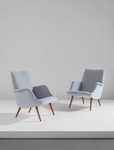Carlo de Carli, 'Pair of armchairs, model no. 806', circa 1955