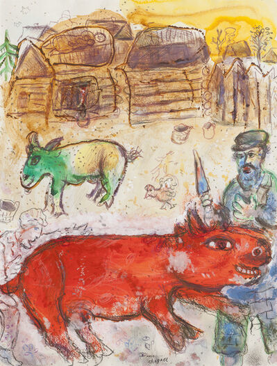 Marc Chagall, 'Le boucher casher', 1971
